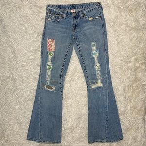 TRUE RELIGION | Woodstock Patchwork Twisted Flare